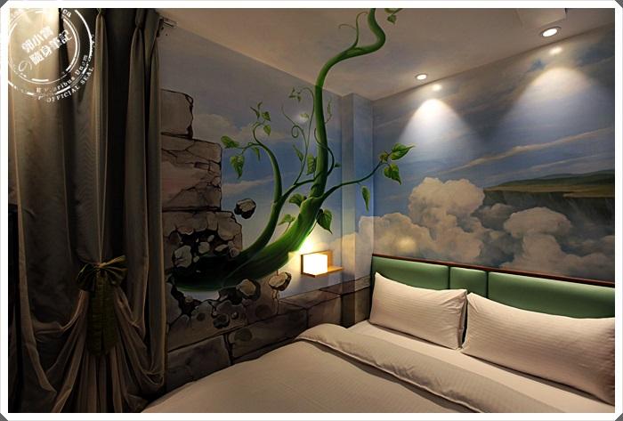 『住宿。高雄左營』世奇商旅|沉睡在3D天空森林理的驚奇繪畫 .